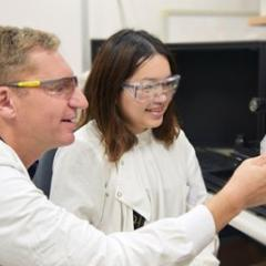 Professor Matt Trau and PhD student Jing Wang