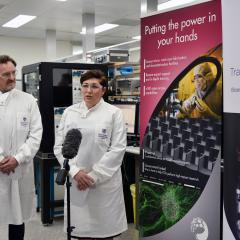 AIBN Deputy Director and ANFF-Q Director Professor Justin Cooper-White and Minister for Science and Environment Leeanne Enoch MP