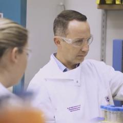AIBN's Professor Trent Munro in the lab